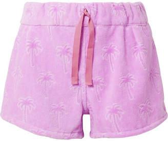 Tomas Maier Flocked Cotton-terry Shorts - Purple
