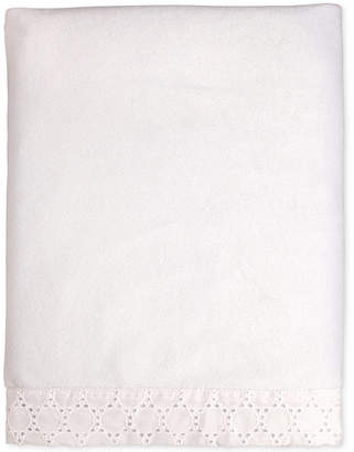 Carter's Lily Embroidered Eyelet Velboa Blanket Bedding