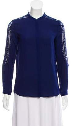 The Kooples Lace Embroidered Long Sleeve Top