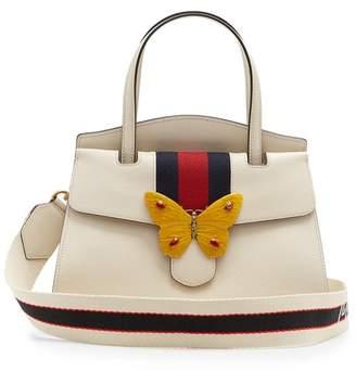 Gucci Guccitotem Grained Leather Bag - Womens - White Multi