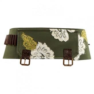 John Galliano Green Cotton Belts