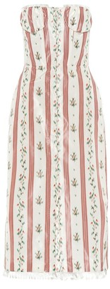 Brock Collection Olgha silk-blend taffeta midi dress