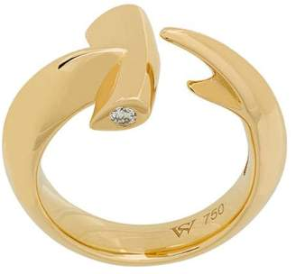 Stephen Webster 18kt yellow gold Hammerhead diamond ring