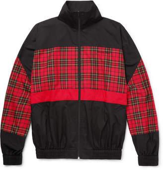 Balenciaga Panelled Checked Cotton-Poplin Track Jacket