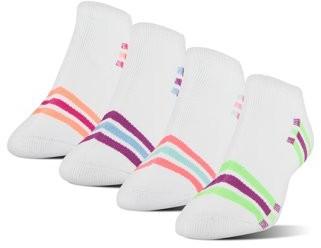 Athletic Works Women's XS Memory Cushion No Show Socks, 4 Pairs