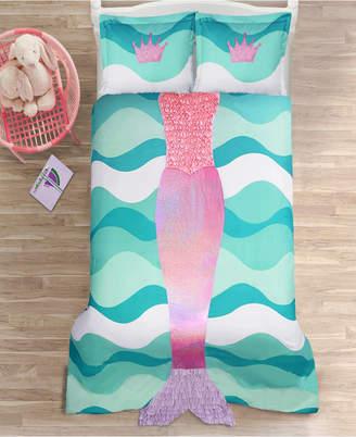 Lush Decor Mermaid Ruffle 3Pc Full Comforter Set Bedding