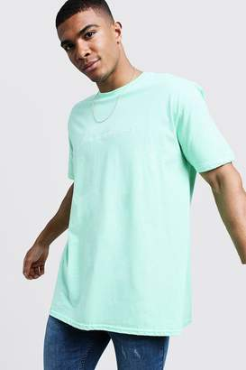 boohoo Oversized MAN Autograph Embroidered T-Shirt