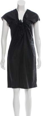 Stella McCartney Tie-Accented Midi Dress