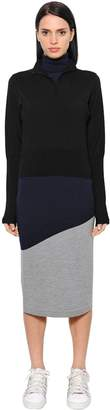 J.W.Anderson Triple Layer Merino Wool Knit Dress