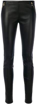 Emilio Pucci zip-embellished leather trousers