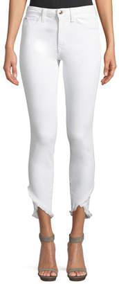 Joe's Jeans Charlie Mid-Rise Skinny Tulip-Hem Jeans