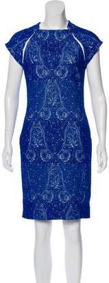 Yigal Azrouel Jacquard Knee-Length Dress