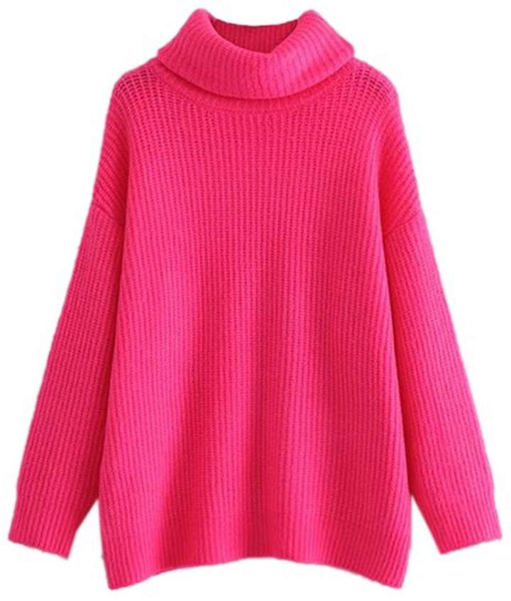 Goodnight Macaroon 'Ali' Oversized Turtleneck Sweater (2 Colors)