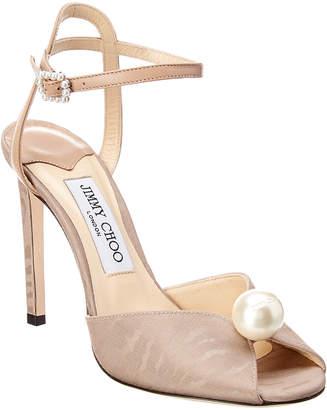 Jimmy Choo Sacora 100 Leather Sandal