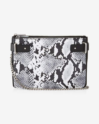 Express 2-In-1 Snake Crossbody Bag