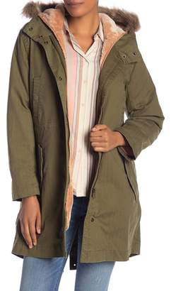 Madewell Bedford Convertible Faux Fur Lined Parka
