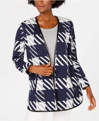 Charter Club Big Patterned Completer Sweater, Created for Macy's