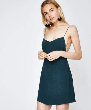Alice In The Eve Maddie Backless Minidress Emerald