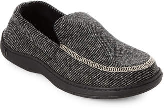 ... Isotoner Black Stripe Moccasin Slippers 13e0ed90bfa1