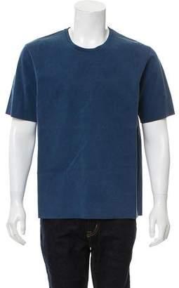 Balenciaga Raw-Edge Crew Neck T-Shirt