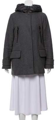 Moncler Short Wool Coat