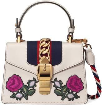 Gucci Sylvie embroidered mini bag