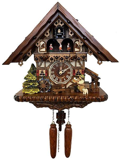 Musical Quartz Chalet Beer Drinker Clock