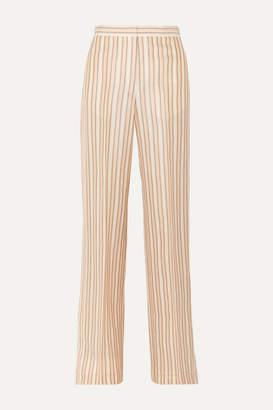 Jil Sander Striped Satin Pants - Orange