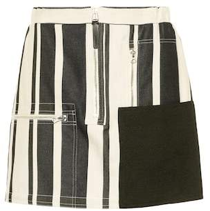 Acne Studios Hilaria cotton and linen miniskirt