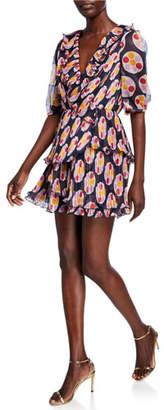 La Maison Talulah Bisous Printed Mini Dress