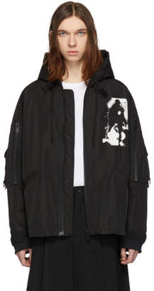 Undercover Black Hooded Pocket Jacket