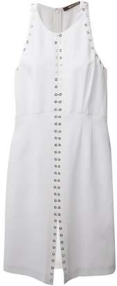Roberto Cavalli eyelet detail dress