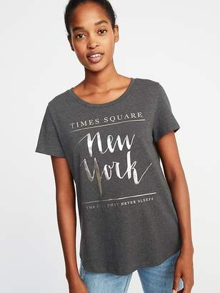 Old Navy New York Times Square Tee for Women