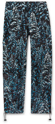 Palm Angels Wide-Leg Camouflage-Print Shell Sweatpants