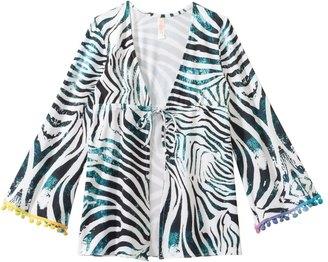 PilyQ Girls' Tanzania Pom Pom Cover Up Tunic (4yrs14yrs) - 8129266 $42.50 thestylecure.com