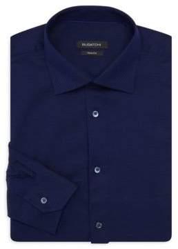 Bugatchi Shaped-Fit Long-Sleeve Dress Shirt