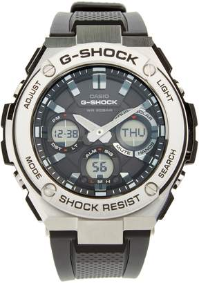 G-Shock BABY-G 'G-Steel' Ana-Digi Resin Strap Watch, 59mm x 52mm