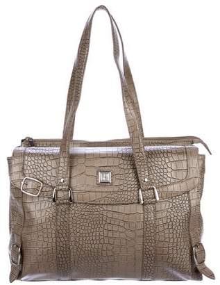 Diane von Furstenberg Embossed Leather Laptop Bag
