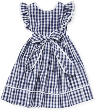 Il Gufo Gingham Flare Dress