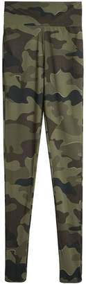 Burberry Camouflage Print Stretch Jersey Leggings