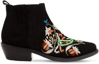 Etro 35mm Embroidered Suede Boots