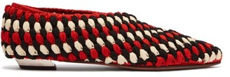 Proenza Schouler Cindy Macrame Point Toe Flats - Womens - Red Multi