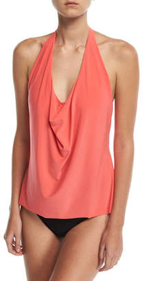 Magicsuit Sophie Solid Cowl-Neck Tankini Swim Top, Plus Size