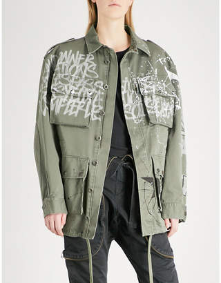 Faith Connexion Graffiti-print cotton-canvas parka jacket