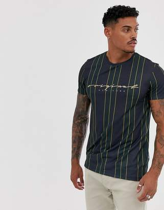 New Look t-shirt with vertical stripe