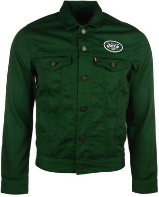 Levi's Men's New York Jets Trucker Jacket $108 thestylecure.com