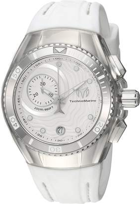 Technomarine Women's 'Cruise' Quartz Stainless Steel and Silicone Casual Watch, Color White (Model: TM-115377)