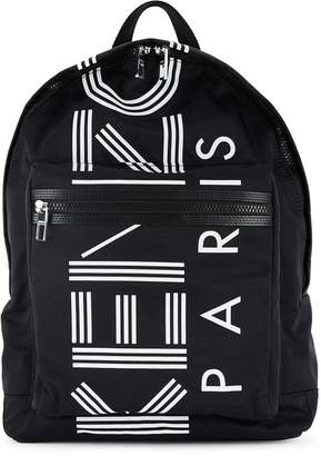 Kenzo Black Logo-print Nylon Backpack