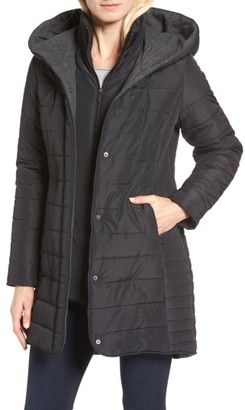 Women's Maralyn & Me Quilted Hooded Jacket $89 thestylecure.com