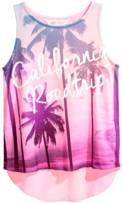 H&M Double-layer Tank Top - Pink